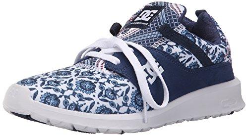 DC Women's Heathrow SE Skate Shoe, Blue Print, 5 M US