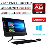 "2017 Newest Lenovo Ideacentre AIO 510 21.5"" All-In-One Desktop, AMD A6-9210, 4GB DDR4 Memory, 500GB Hard Drive, Bluetooth 4.0, Black, Windows 10"