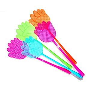 Handy Fly Swatter Set of 5 Assorted Colors