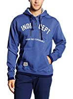 THE INDIAN FACE Sudadera con Capucha (Azul)