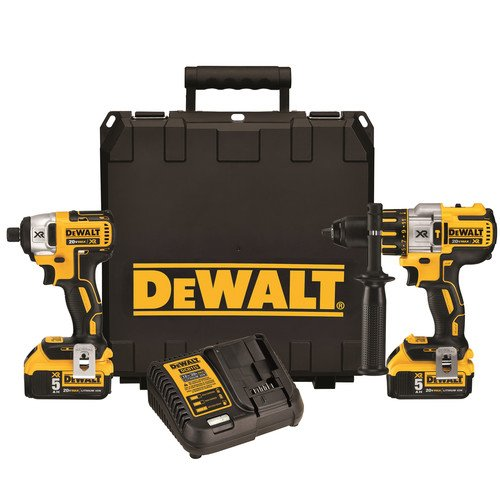Factory-Reconditioned-Dewalt-DCK296P2R-20V-MAX-XR-50-Ah-Cordless-Lithium-Ion-Hammer-Drill-Impact-Driver-Combo-Kit