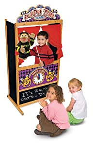Deluxe Puppet Theater Plus Horse, Prince and Princess Marionette Puppets By Melissa and Doug by Melissa and Doug