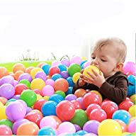 Imachine Plastic Play Pit Balls, 100-Piece, 2.7-Inch, Assorted Colours