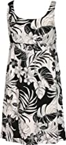 Big Sale RJC Womens Fancy Garden Empire Tie Front Short Tank Dress in Black - 4X Plus
