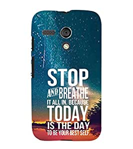 Ebby Premium Printed Mobile Back Case Cover With Full protection For Moto G (Designer Case)