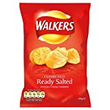 Walkers Ready Salted Crisps 100g Price Marked £1.00 (Pack of 12)