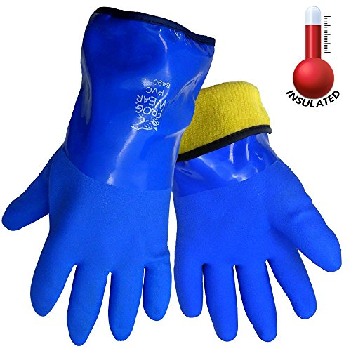 FrogWear 8490 Insulated & Waterproof Blue Tripple Dipped Work Gloves, Ultra Flexible, Chemical and Oil Resistant, Sizes M-XL (1 Pair) (Extra Large) (Atlas Thermal Gloves Xl compare prices)