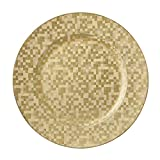 Gold Mosaic Chargers, Set of 4