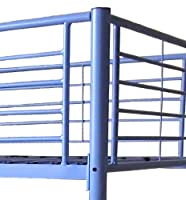 FoxHunter New Purple Metal Triple Children Sleeper Bunk Bed Frame No Mattress Double Bed Base Single On Top