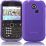 Gel Shell Case Cover For Samsung Ch@t Chat 335 S3350 / Purple