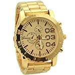 Geneva Casual and Sport style watches for men rose gold tone - 3