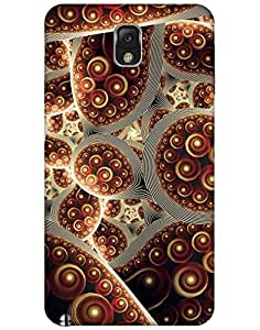 Bikzone Back Cover For Samsung Galaxy Note 3 (Multicolor)