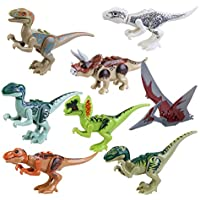 BESTOYARD Dinosaur Building Blocks Mini Dinosaur Toys Dinosaur Blocks Playset 8 Pcs