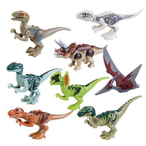 PIXNOR Jurassic Park dinosaure jouet Jurassic World dinosaure bâtiment bloque jouet - 8P.
