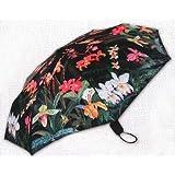 Fine Art Mini Folding Rain or Sun Umbrella--Orchids Floral