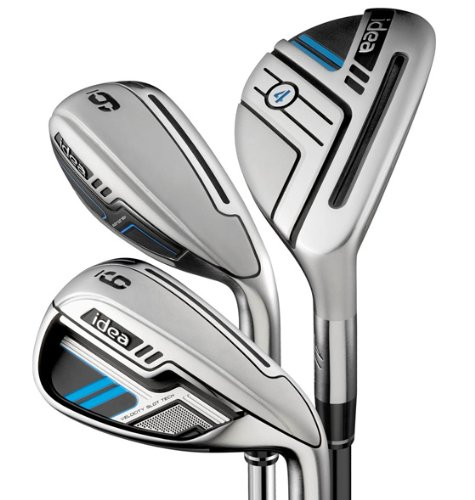 Adams Golf Men's New Idea Iron Set, Right Hand, Graphite, Senior Flex, 3-5H, 6-PW