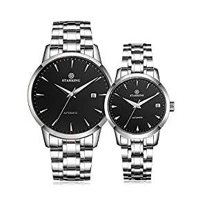Starking Couple's AM/L184 Wrist Watches for Lovers with Black Dial