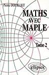Math�matiques avec MAPLE, tome 2