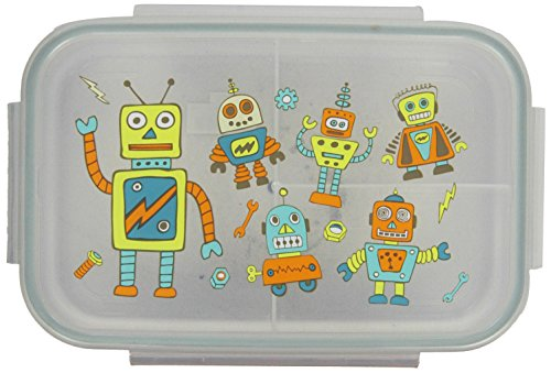 Sugarbooger Good Lunch Box Divided Lunch Container, Retro Robot - 1