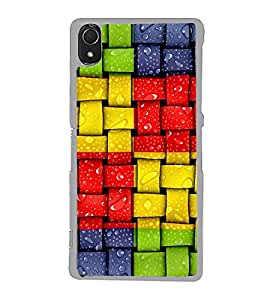 Colourful Weave Pattern 2D Hard Polycarbonate Designer Back Case Cover for Sony Xperia Z3 :: Sony Xperia Z3 Dual :: Sony Xperia Z3 D6633