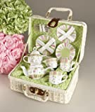 Delton - Large Dollies Tea Set/ Basket, Sprinkles