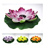 Q20ag (3pcs pack lot Purple + Re D+ Yellow Color Petal) -Rgb Led Solar Pool Water Lights -Lotus Flower Light -Color Changeable Colorful - Lantern Gardenlandscape Lamp Yard Pathway Outdoor Decoration Lamps Lighting -For Christmas Wedding Party Events Holiday Easter Valentine Day