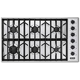 VGSU163 6BBK Viking 36 Natural Gas Cooktop Pro Series   Black