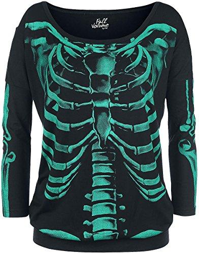 Full Volume by EMP Skeleton Longsleeve Manica lunga donna nero S