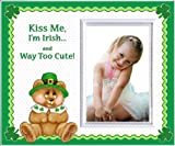"""Kiss Me, I'm Irish St. Patrick's Day Picture Frame Gift and Decor"""""""