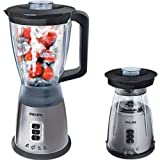Distinctive Philips HR2020/50 Compact Blender - Silver with accompanying DeskX24 Cup Holder