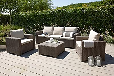 Mombasa 96114090 4-teilig Loungegruppe , cappuccino / sand von Allibert - Gartenmöbel von Du und Dein Garten