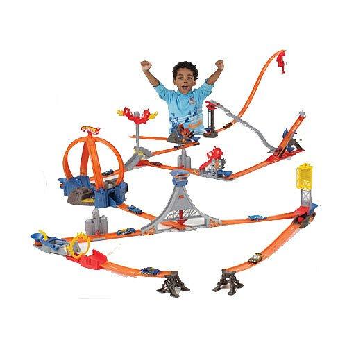 .com: Hot Wheels Trick Tracks Ultimate Stunt World Play Track Set