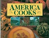 img - for America Cooks: A Culinary Journey from Coast to Coast: With 202 Full Color Photographs, With 201 Recipes (Cookbook Cook Book) - First Edition 1st Edition, 1st Printing 1989 (Large Table Top Cookbook) book / textbook / text book