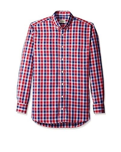 Gitman Blue Men's Plaid Button Down Sport Shirt