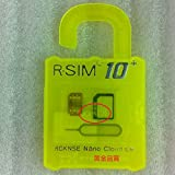 R-SIM 10+ iPhone6S /6S Plus /6/ 6 Plus/5S/5C sim ロック解除アダプタ iOS 9 対応 SIM Unlock アンロック SIMフリー 解除アダプター RGKNSE 純正品