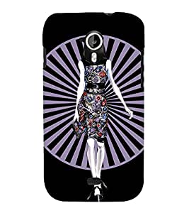 GIRL IN FLORAL DRESS WITH A BLACK BACKGROUND 3D Hard Polycarbonate Designer Back Case Cover for Micromax Canvas HD A116::Micromax Canvas HD Plus A116Q