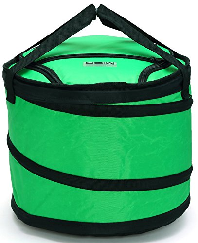 MIER 30 Can Collapsible Soft cooler bag for Party, Golf, Grocery, Picnic, Car, Leakproof Liner, Fits in Suitcase, Green (Beer Trash Can compare prices)