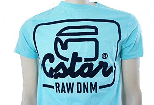 "G Star ""Raw DNM"" Graphic a maniche corte in puro cotone t shirt Sky Blue Medium"