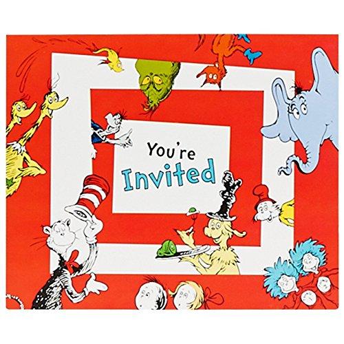 Dr. Seuss 1st Birthday Invitations (8)