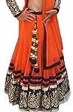 Janasya Womens Orange Net Lehenga Choli (HS-LEN-003.B)
