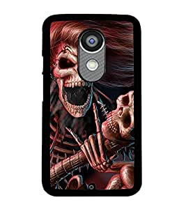 Printvisa Skeleton Playing A Scary Guitar Back Case Cover for Motorola Moto X2::Motorola Moto X (2nd Gen)
