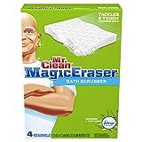 Mr Clean Magic Eraser Bath Scrubber, 4-Count (Pack of 2)