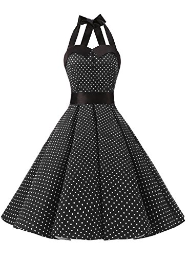 Dressystar - Vestido - enaguas - para mujer negro M