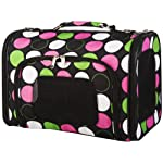 Multicolor Polka Dot Dog Cat Soft-Sided Pet Carrier, 16-inch