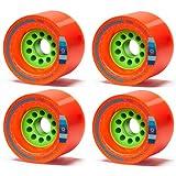 Orangatang Kegel 80mm 80a Orange Longboard Wheels Set of 4 New by Orangatang
