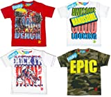 Boys Freaky Slogan Epic Kick Awesome Miami T-Shirt Top from 2 to 12 Years