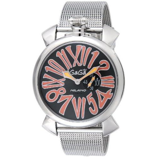 [ガガミラノ]GaGa MILANO 腕時計 スリム46mm ブラック文字盤 5080.4 メンズ 【並行輸入品】