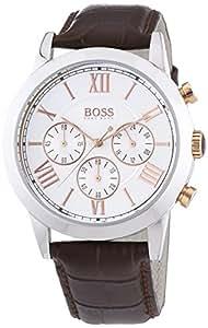 Hugo Boss - 1512728 - Montre Homme - Quartz Chronographe - Bracelet Cuir Marron