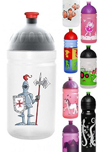 ISYbe-Trinkflasche-500ml-Ritter-wei-transparent-schadstofffrei-splmaschinengeeignet-auslaufsicher