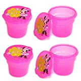 Set of 4 Plastic Disney Snack Containers, Mini Snack Containers with Lids (MINNIE MOUSE)